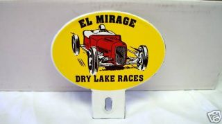 Porcelain El Mirage License Plate Topper Chevy Ford