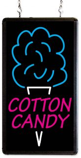 Cotton Candy Neon LED Merchandising Sign, Lighted Floss Maker Machine