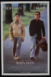 RAINMAN 1988 Dustin Hoffman, Tom Cruise ORIGINAL ADVANCE 1SHT MOVIE