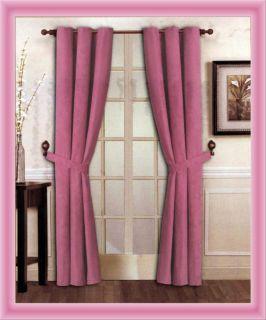 New Elegant Solid Hot Pink Micro Suede Window Curtain Grommet Panel
