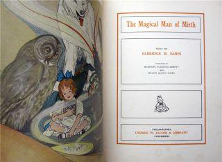 MAGICAL MAN OF MIRTH 1910 Sabin art noveau color illustrations