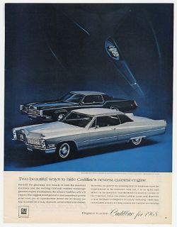 67 1968 cadillac fleetwood eldorado coupe deville ad
