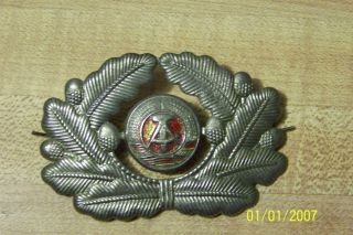 East German Army visor hat insignia