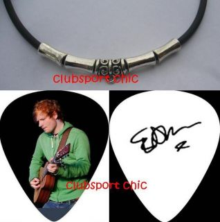 ED SHEERAN SIGNED GUITAR PICK NECKLACE THE A TEAM LEGO HOUSE