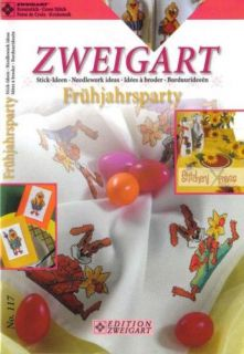 Zweigart FRUHJAHRSPARTY EASTER Cross Stitch Book Table Toppers Parties