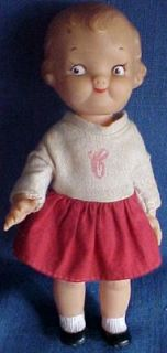 Vintage Ideal Campbell Soup Kid Dolly Dingle Doll w/ Clothes 8 Girl