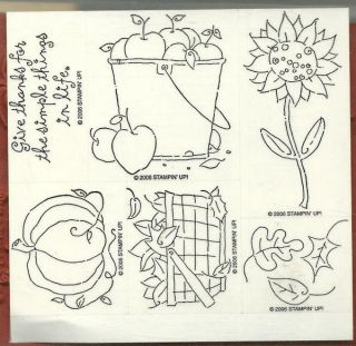 Stamp Give Thanks Autumn Thanksgiving Fall Leaves Word New UM
