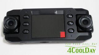 X8000 Car DVR HD Camera 140°DUAL Wide Angle Lens Dashcam GPS Logger G