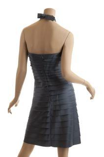 BCBG Max Azria Blue Shirred Cocktail Dress New Size 6