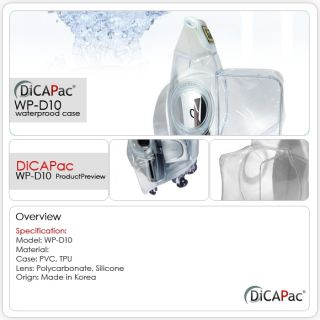 DiCAPac Waterproof Case WP D10 Camcorder Sony JVC W008