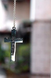 Jesus Black Cross Pendant Necklace Edison Chen Free Shipping