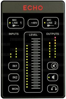 Echo 2 Personal Live Mixer USB Audio Recording Interface Mic Preamp