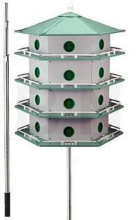 Heath AH 24d Deluxe Purple Martin House Pole Package