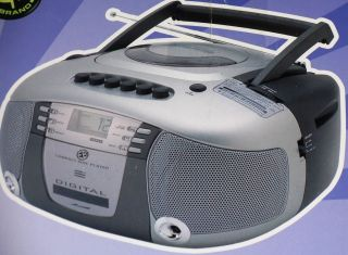 Electro brand Portable AM FM Stereo CD player Radio stereo Cassette