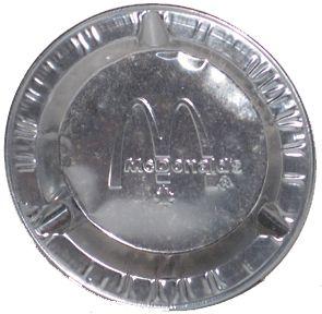 Canadian McDonalds Fast Food Restaurant Canada Metal Foil Ashtray