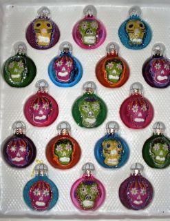 Mexican Folk Art Original Skull Christmas Ornaments Dolores Gonzalez