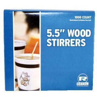 Royal Wood Wooden Coffee Stir Sticks 5 5 Woodgrain 1000 Stirrers Box