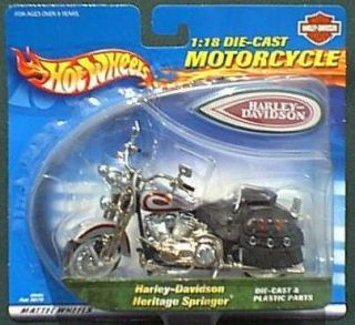 Hot Wheels 1 18 Scale Die Cast Harley Davidson Heritage Springer RARE