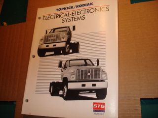 1989 Chevy GMC Topkick Kodiak Truck Electronics Training Manual