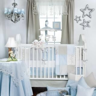 Gingham Elegant Nursery Infant Boy 5pc Crib Bedding Set Collection
