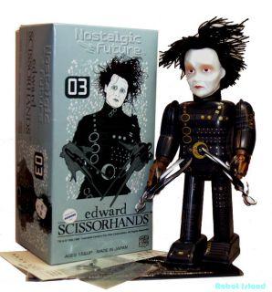 Medicom Tin Toy Robot Windup Edward Scissorhands Johnny Depp