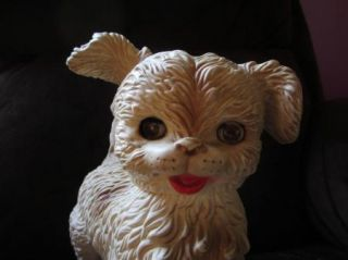 Vintage Turning Head Mobley 1960s Large Squeak Toy Shaggy Dog Puppy