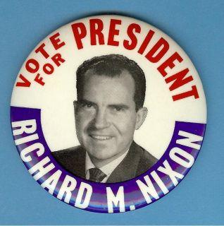 Vote for President Richard M Nixon Pinback