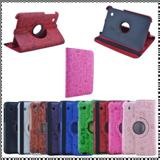 XMN 360°ROTATING Leather Case Cover Samsung Galaxy Tab 2 7 0 Tablet