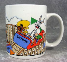 linyi six flags warner bros looney tunes mug wile e coyote elmer fudd