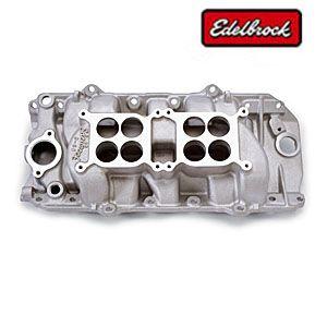Edelbrock 5420 BB Chevy Oval Dual Quad Intake Manifold