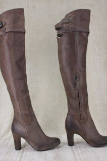 Sam Edelman Sutton Over The Knee Leather Tall Flat Riding Boots 5 5