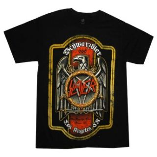 Slayer Eagle Schwarzbier Beer Crest Metal Rock Band Adult T Shirt Tee