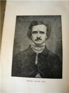 Unique Collectable 1st Edition Book Poems by Edgar Allan Poe NR