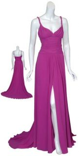 Emanuel UNGARO Sultry Chiffon Gown Dress $5560 40 6 New