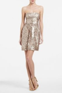 New$258 BCBG Max Azria Carol Strapless Sequined Cocktail Dress in