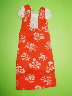 Vintage Skipper Best Buy Outfit 7218 Red White Floral Dress Mint