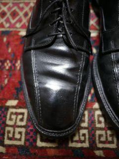 Vintage Allen Edmonds Hillcrest Black Leather Mens Euro Oxfords Shoes
