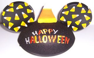 DISNEY PARKS MICKEY MOUSE HAPPY HALLOWEEN CANDY CORN EARS HAT