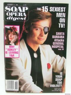 Soap Opera Digest Magazine Nov 1988 Rue McClanahan Steve Kanaly TVs