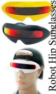 Man Woman Retro Revo Red Lens Robot Punk Hipster Sunglasses