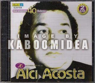 Alci Acosta Historia Musical 40 Boleros 2 CD Set Exitos