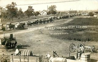TX El Campo Cotton Scene Horse Drawn RPPC Early K33957