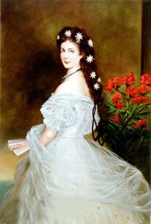 "Empress Elizabeth of Austria""Portrait Oil Painting"