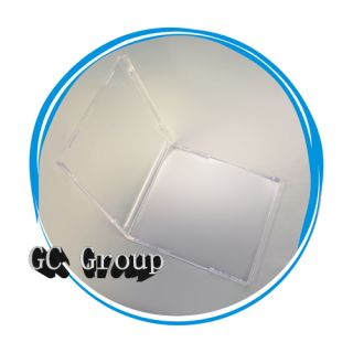 Standard 10 4mm Empty No Tray Clear CD DVD R Jewel Cases Boxes