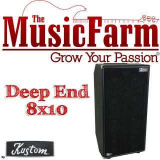 Kustom Deep End 8 x 10 Bass Guitar Amp Speaker Cabinet