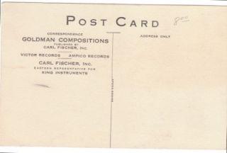 Postcard Edwin Franko Goldman Band King Music Instruments Del Staigers