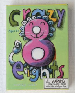 New eeBoo Crazy 8 Eights Playing Cards Kids Party Favor Stocking