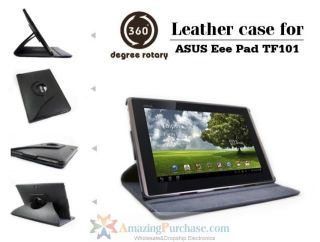 Leather Case Cover Holder for Asus Eee Pad Transformer TF101