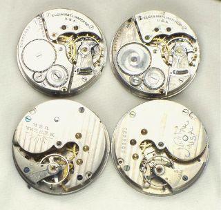 Antique Vintage Elgin Pocket Watch Movements Altered Art Steampunk 60L
