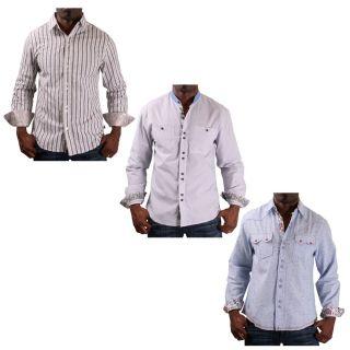 English Laundry John Lennon JLW1321 Mens Woven Dress Shirt Stripe